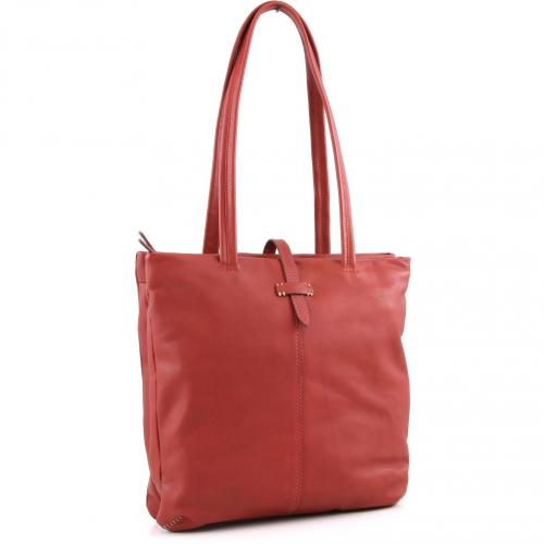 Marc O'Polo Amalie Shopper Leder rot