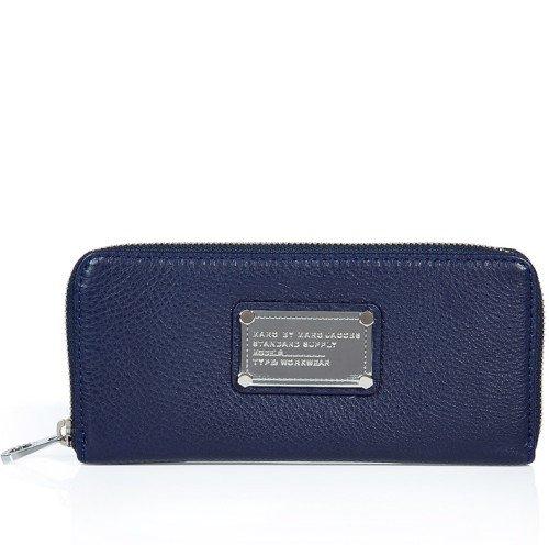 Marc Jacobs Portemonnaie mit Reißverschluss Blau