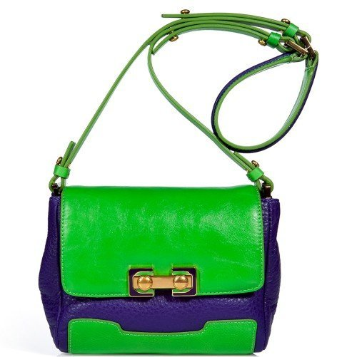 Marc Jacobs Royal Purple / Green Umhängetasche