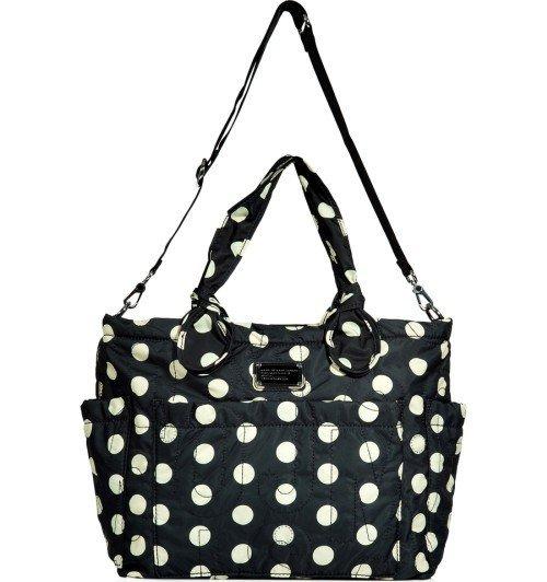 Marc Jacobs Baby Tasche schwarze und cremefarbene Pünktchen