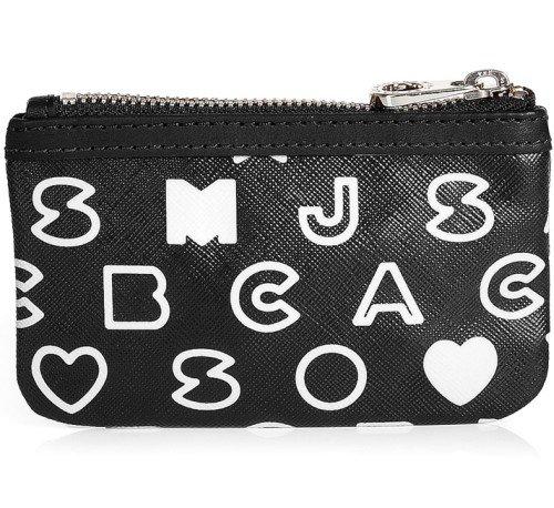 Marc Jacobs Schlüsseltasche schwarz und weiß Eazy Key Pouch