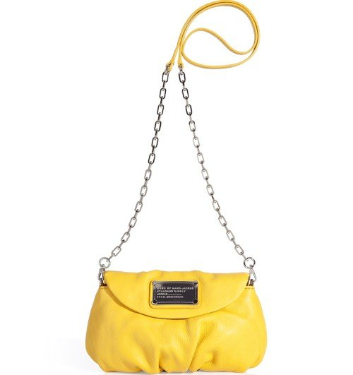 Marc Jacobs Gelbe Classic Q Karlie Cross Body Tasche