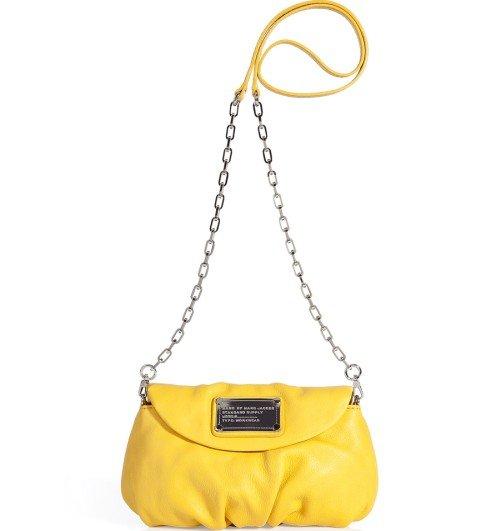 Marc Jacobs Gelbe Classic Q Karlie Cross Body Tasche