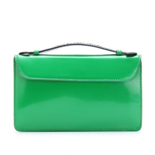 Marc Jacobs Clutch Two-Tone Leder Blau/Grün
