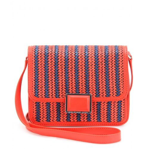 Marc Jacobs Jane's Friend Elaine Stroh Leder Rot