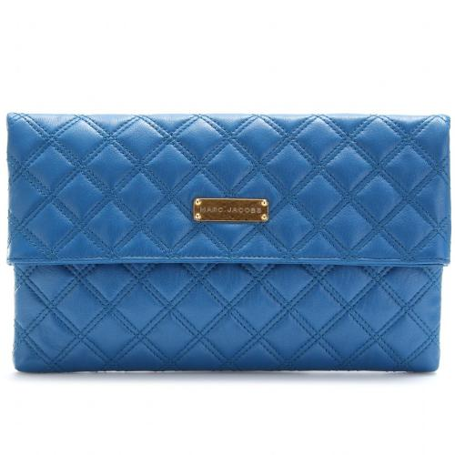 Marc Jacobs Eugenie Oversized Clutch Blau