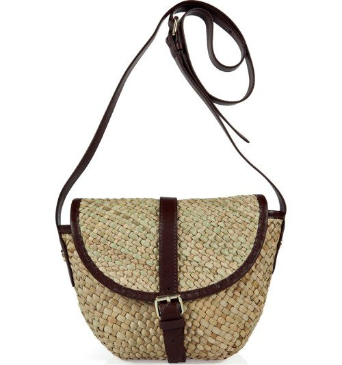 Marc Jacobs Natural/Brown Preppy Straw Satchel