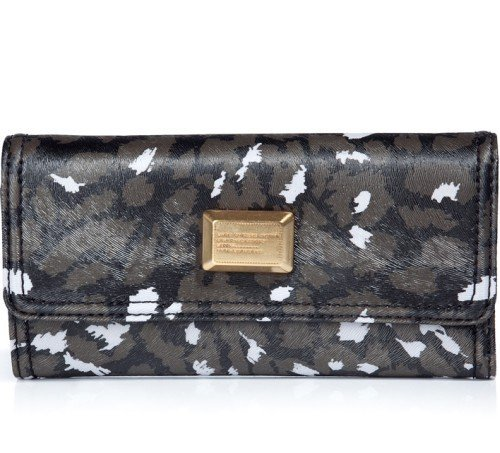 Marc Jacobs Portemonnaie Animal Print Schwarz