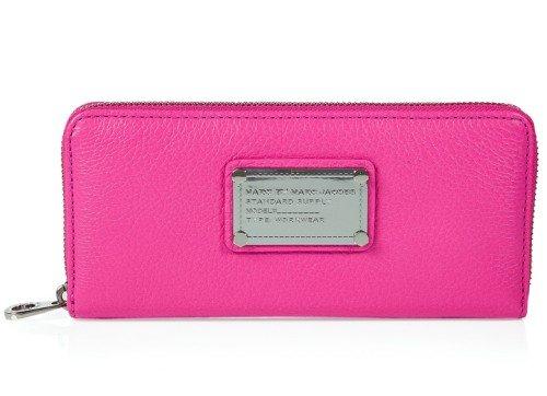 Marc Jacobs Portemonnaie Pink Classic Slim Zip