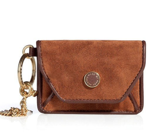 Marc Jacobs Brow Suede Mirror Pouch Log Cabin