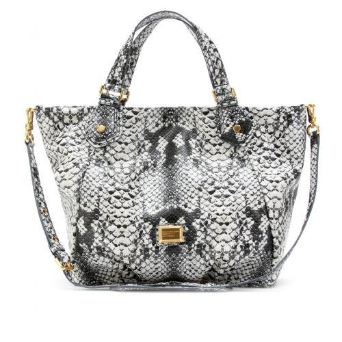 Marc Jacobs Shopper Super Fran Schlangenprint  Grau/Metallic