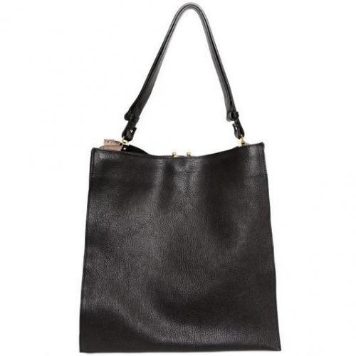 Marni - Leder Und Wildleder Shopping Tasche