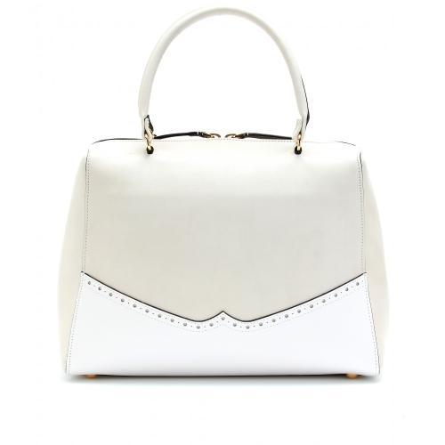 Marni Lederhenkeltasche mit Perforation Weiß
