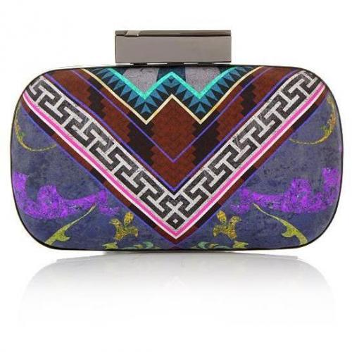 Matthew Williamson Decadent Tile Hard Clutch Purple