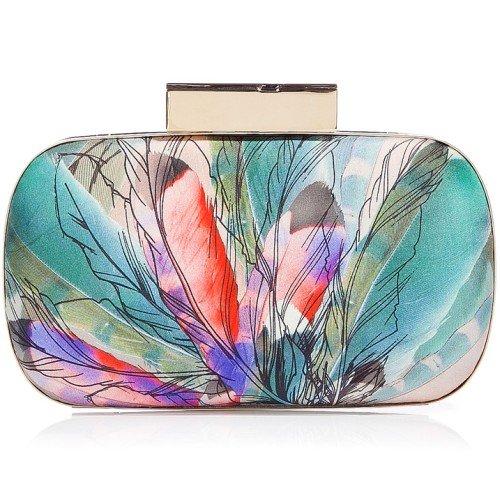 Matthew Williamson Blush Multicolor Round Hard Clutch Bag