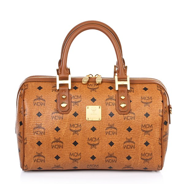 MCM Heritage Boston Medium Cognac