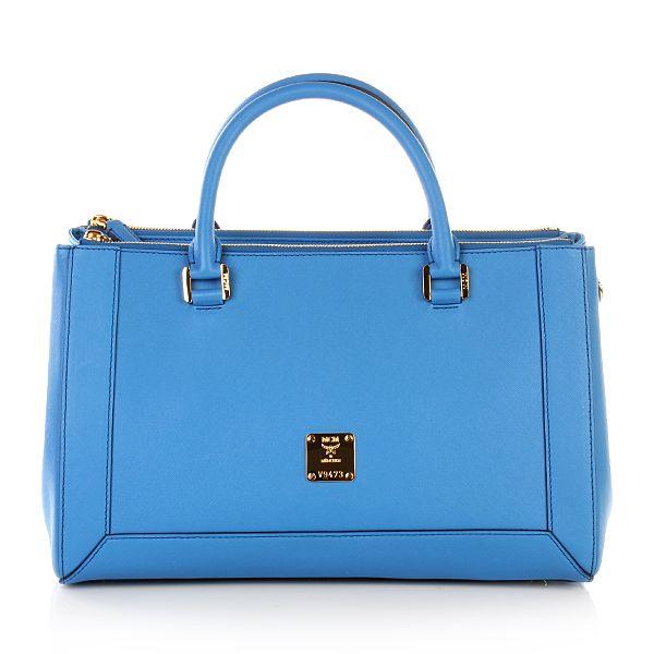 MCM Bag Sophia Tote Large Blue
