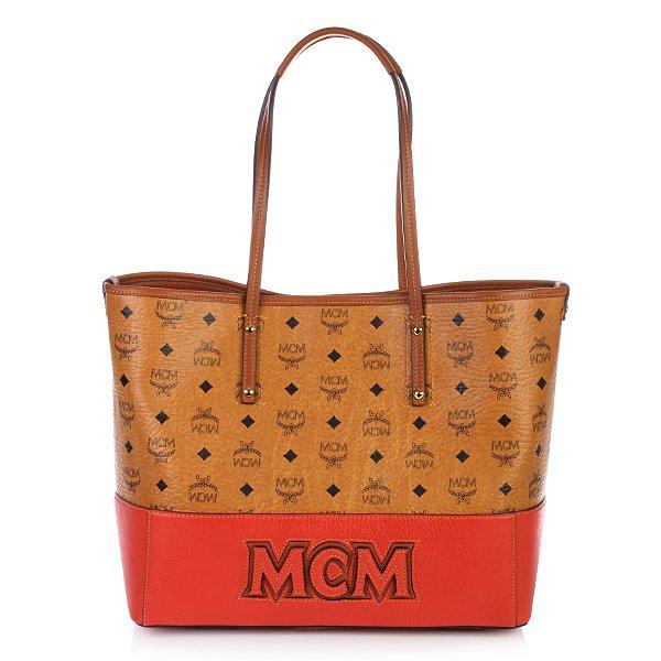 MCM East West Shopper Medium Cognac/Orange