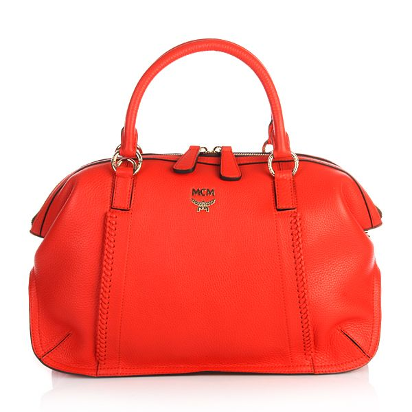 MCM Sun Dream Tote Medium Coral