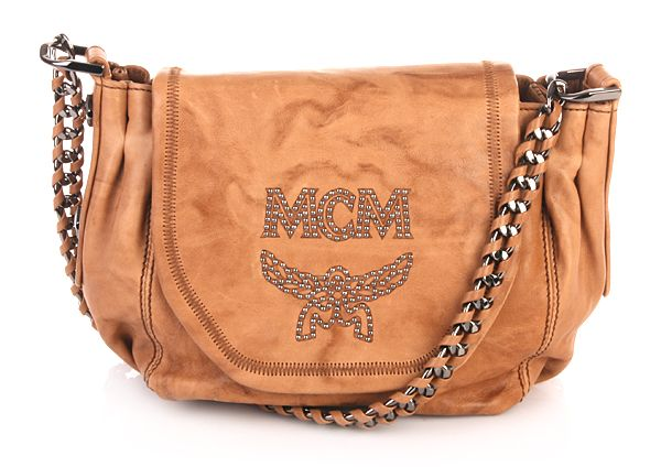 MCM Schultertasche Glam Rock Crossbody Small Camel