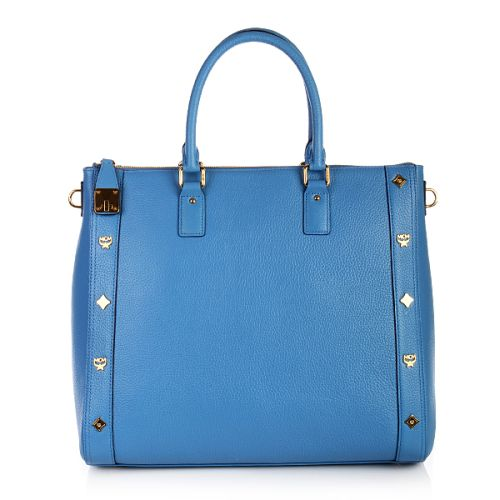 MCM First Lady Portfolio Large Blue