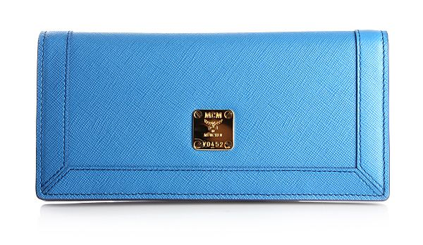 MCM Sophia Flap Wallet Large Blue