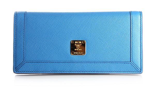 MCM Sophia Flap Geldbörse Large Blue