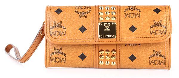 MCM Funk Rock Flap Wallet Large Cognac