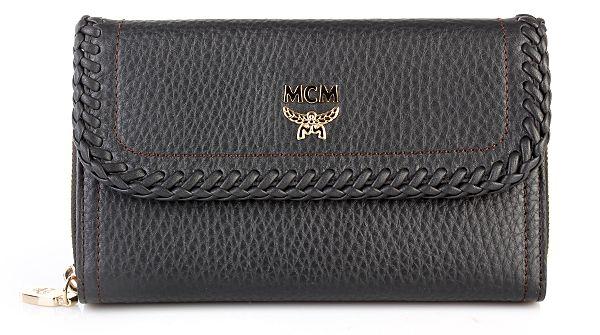 MCM Sun Dream Zip Wallet Large Black