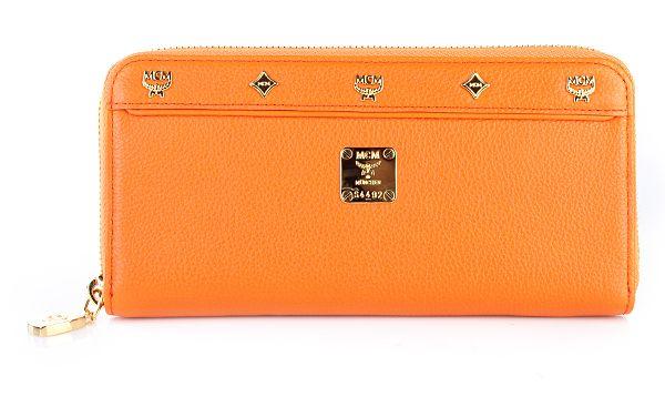 MCM Geldbörse First Lady Zip Wallet Large Orange
