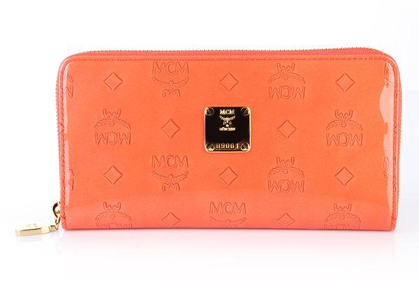 MCM Ivana Zip Wallet Large Orange