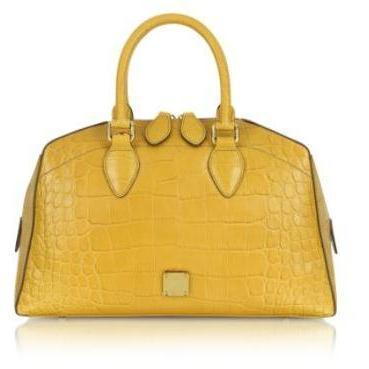 MCM First Lady - Boston Bag aus krokogeprägtem Leder