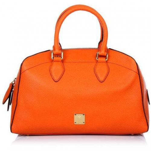 MCM First Lady Boston Small Orange