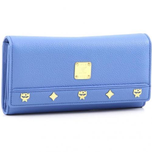 MCM First Lady Flap L Geldbörse Damen Leder blau