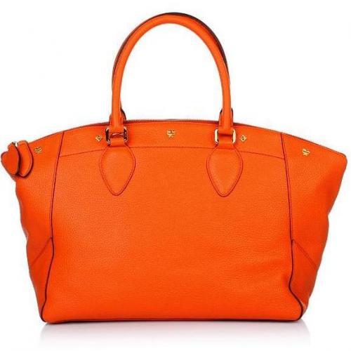MCM First Lady Tote Medium Orange