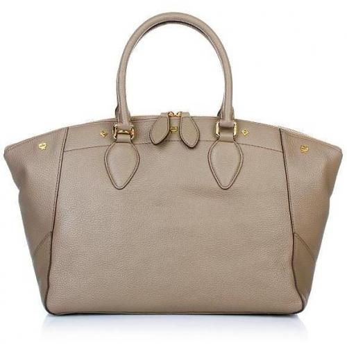 MCM First Lady Tote Medium Taupe