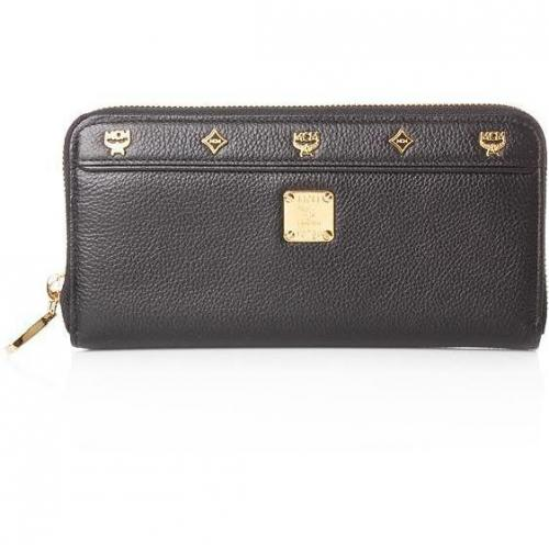MCM First Lady Zipped Wallet Large Black