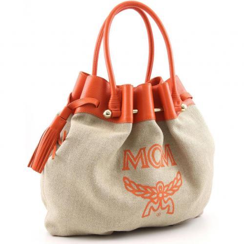 MCM Kitty Bag Shopper Leder orange
