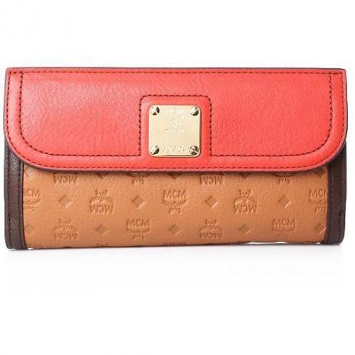 MCM Mocha Flap Wallet Large