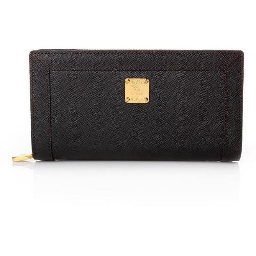 MCM Nuovo L Zipped Wallet Large Black