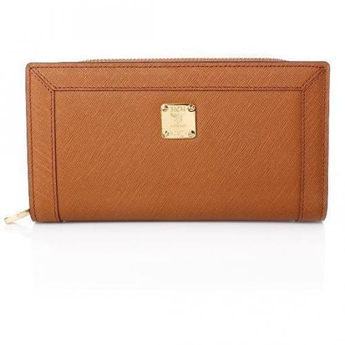 MCM Nuovo L Zipped Wallet Large Camel
