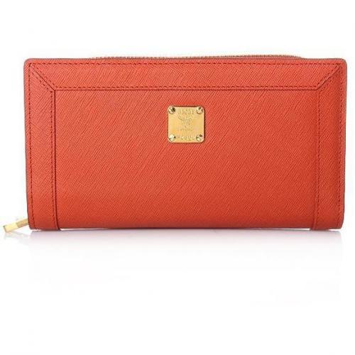 MCM Nuovo L Zipped Wallet Large Orange