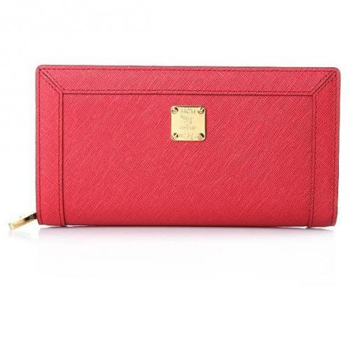 MCM Nuovo L Zipped Wallet Large Red