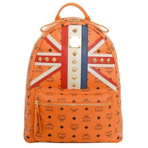 MCM Rucksack Visetos Stark Medium UNION JACK orange