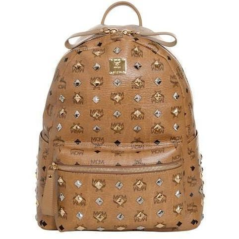 MCM Rucksack Visetos Stark Studsover Medium' brown