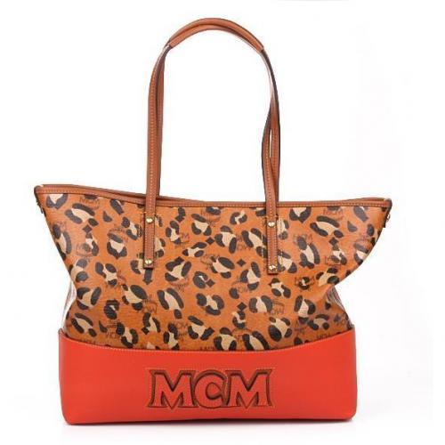 MCM Shopper Project Medium Cognac