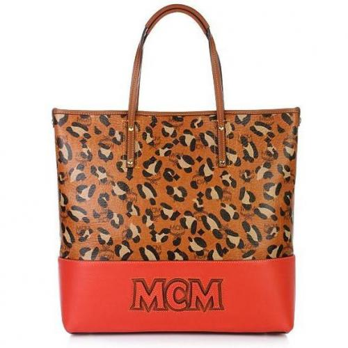 MCM Shopper Project Shopper Medium Cognac