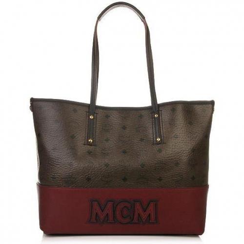 MCM Shopper Project Shopper Medium Dark Brown