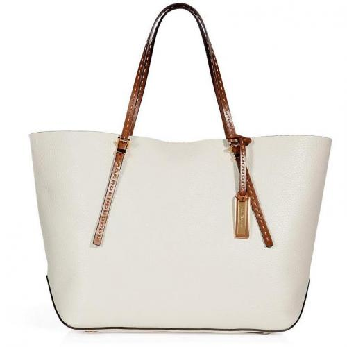 Michael Kors Ecru Textured Leather Tote