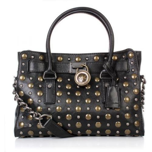 Michael Kors Hamilton Studded NS Tote Black